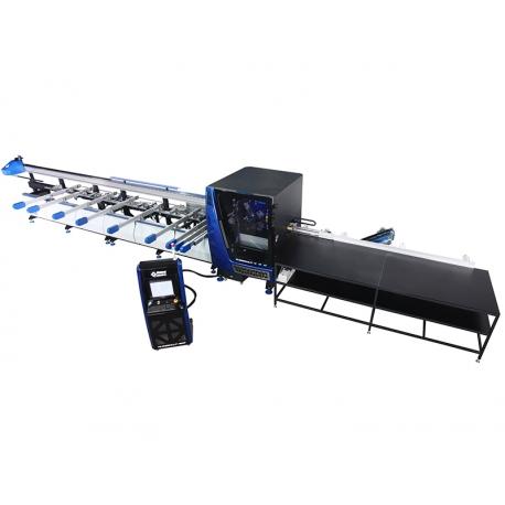 Centru CNC pentru prelucrare profile PVC, 3 lame fixe