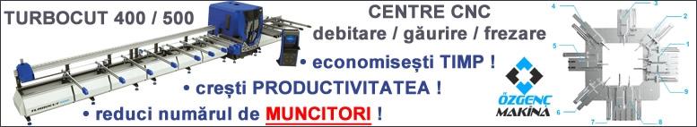 Centre CNC debitare - frezare - gaurire Utilaje PVC de mare capacitate